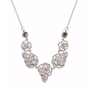 KATE SPADE • Crystal Rose Statement Necklace